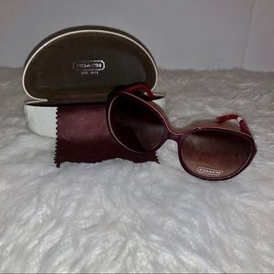Coach Sunglasses Burgundy Color New With Tag